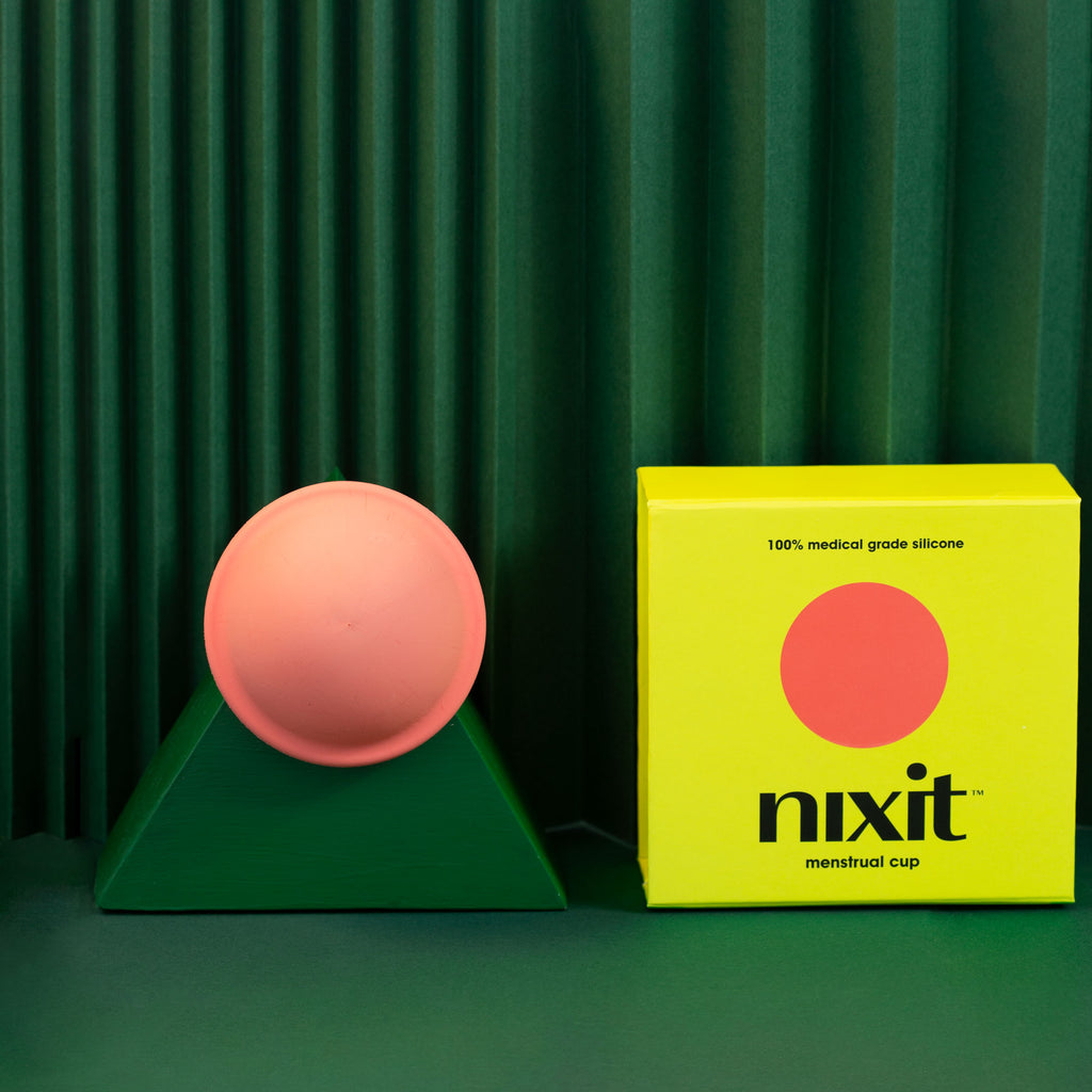 Nixit reusable menstrual disc one size packaging