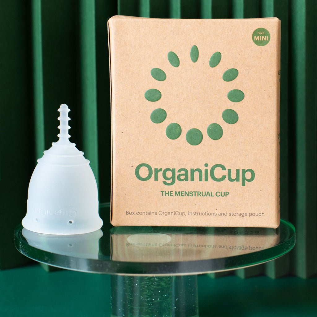 Organicup Mini xs menstrual cup for teens packaging