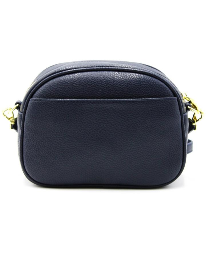 Lucia Curve Cross Body Bag - Navy