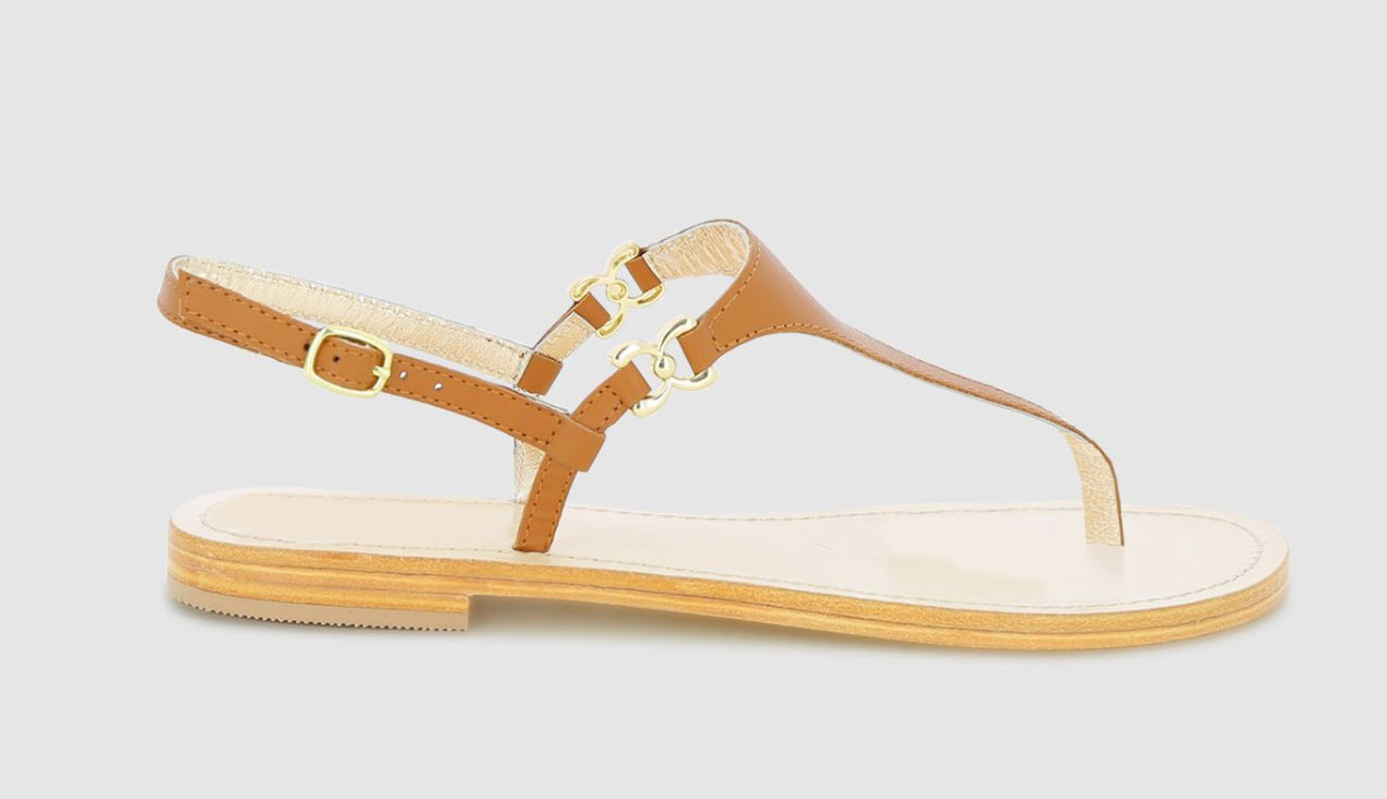Ally Trim Sandal - Tan