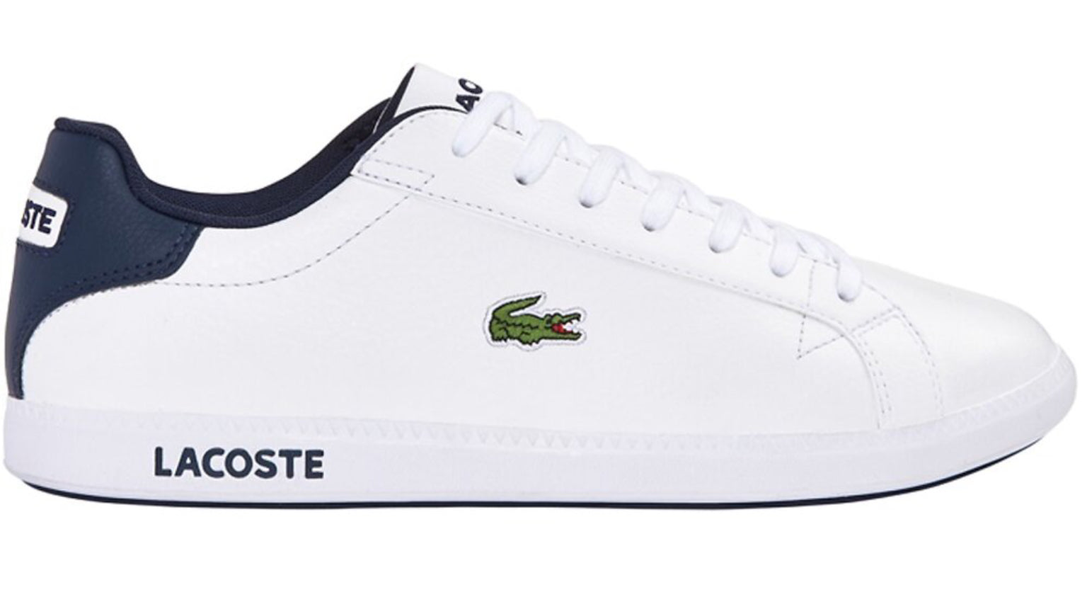 Lacoste Graduate  - White/Dark Blue