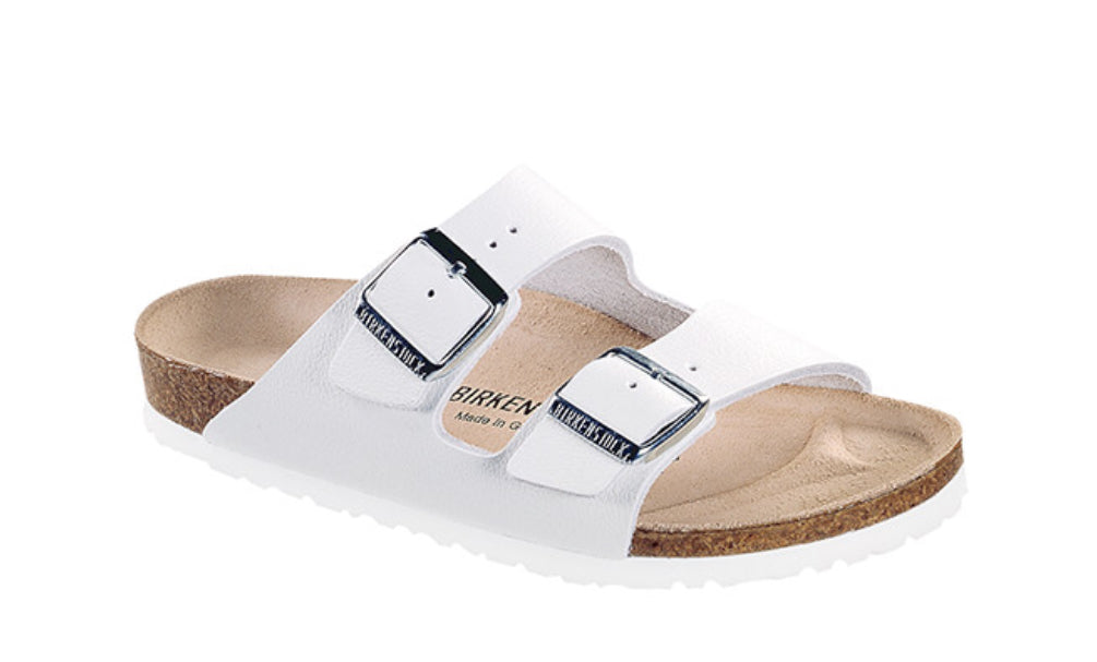 Birkenstock - Arizona - White Leather (narrow)