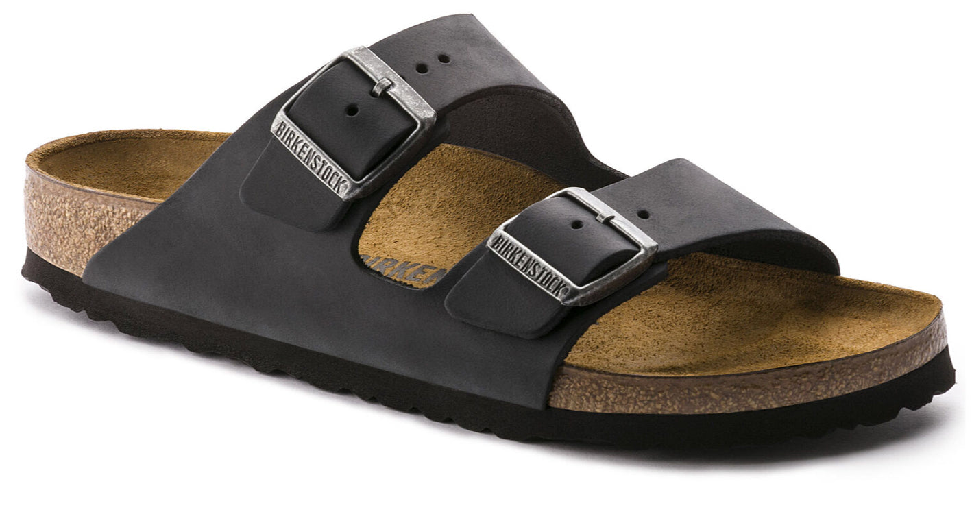 Birkenstock - Arizona - Black Oiled leather (narrow)