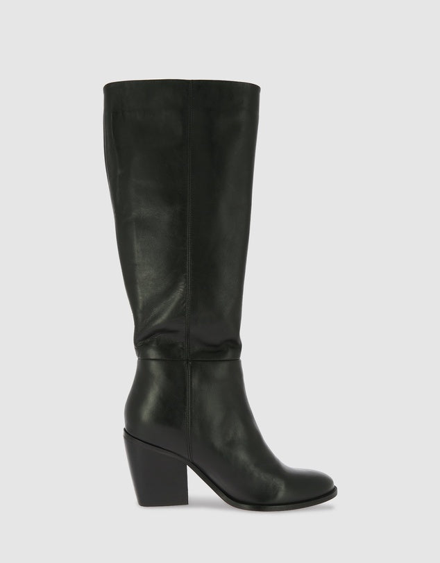 Knee Length Boot - Black