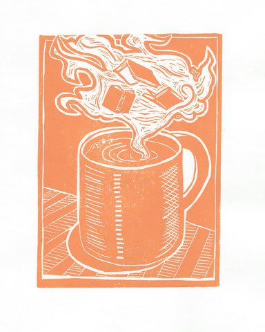 "A Good Read | 8""x10"" 