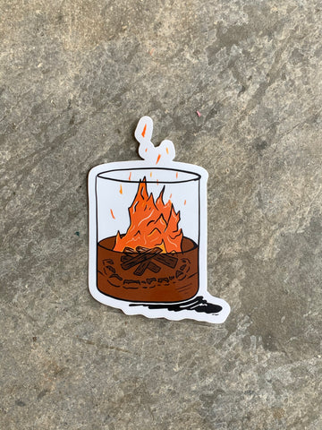 Bonfire in a Glass Sticker