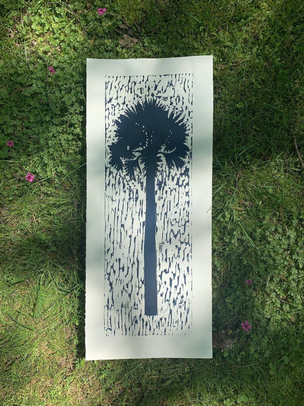"Lonesome Palmetto | 32"" x 14.25"" 