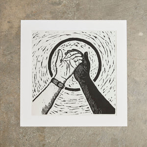 "Open Hands | 20"" x 20"" 