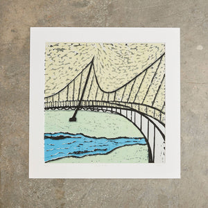 "Liberty Bridge | 20"" x 20"" 