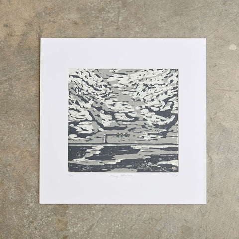 "Stormy Reflections | 20"" x 20"" 
