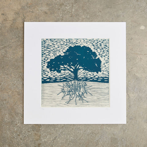 "Downtown Roots | 18"" x 18"" 