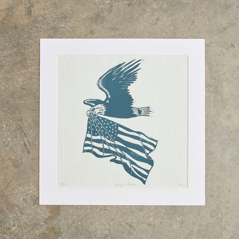 "Flying For Freedom | 14"" x 14"" 