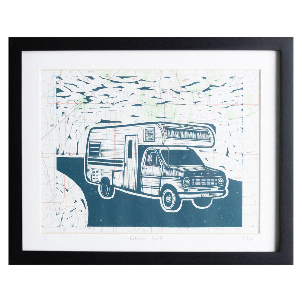 "Portable Castle | 11"" x 14"" 