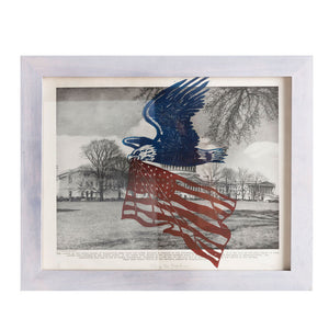 **Special Price!** Flying For Freedom | 11 x 14 | Framed Linoleum Carving