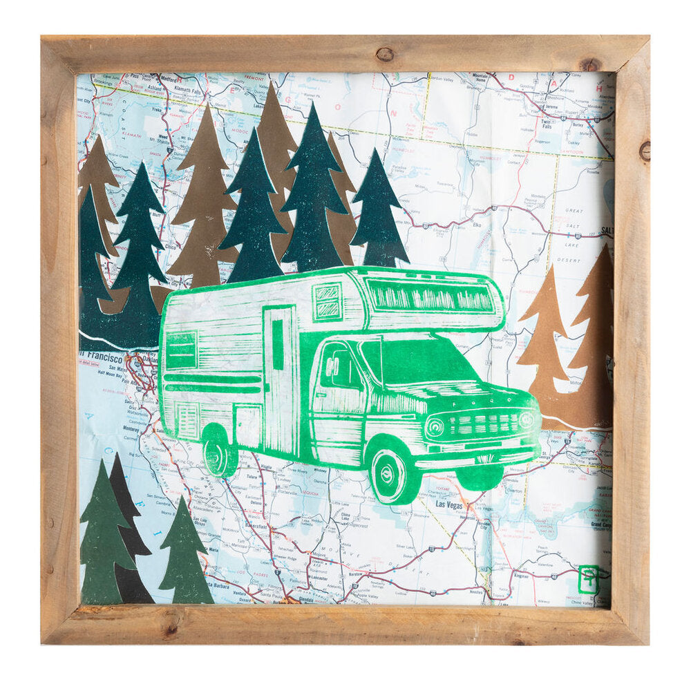 "Portable Castle on Wheels | 12"" x 12"" 
