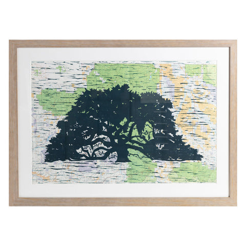 "Lonesome Oak | 42"" x 30"" 