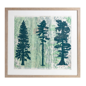 "Made To Order Lonesome Trees | 36"" x 34"" 