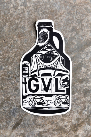 GVL Growler Sticker
