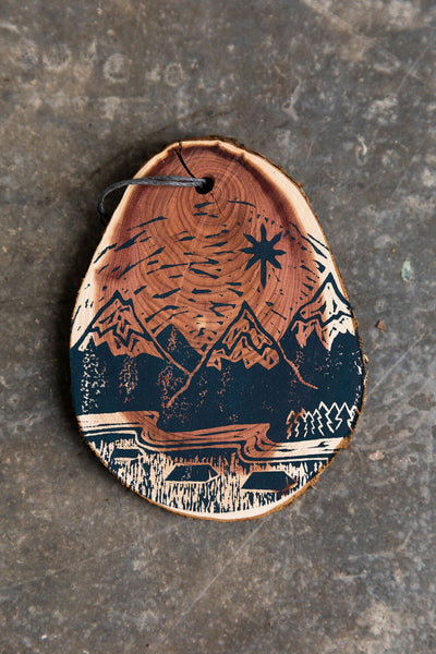 We Three Kings Wooden Hand Printed Ornament