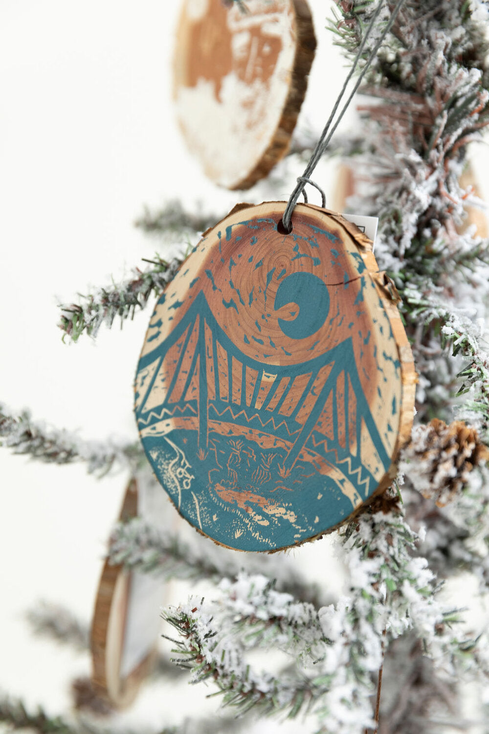 Falls Park Wooden Hand Printed Ornament