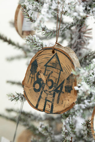 The 864 Wooden Hand Printed Ornament