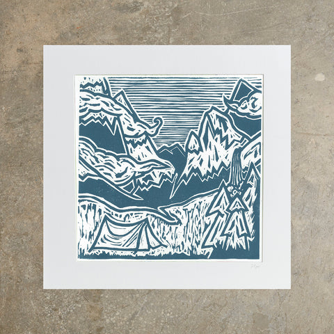 "Tent's Up | 12"" x 12"" 