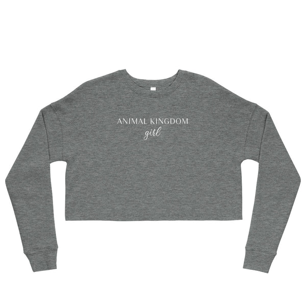 Animal Kingdom Girl Crop Sweatshirt