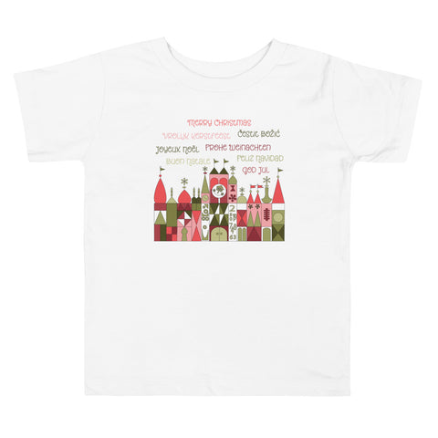 Small World Christmas Toddler Short Sleeve Tee