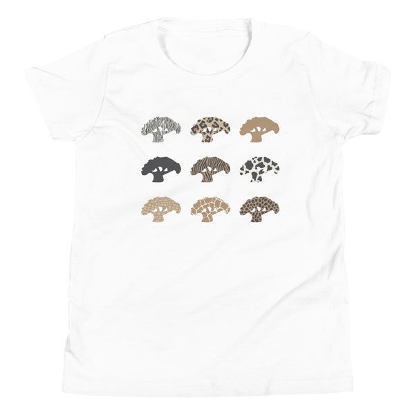 Animal Print Youth Short Sleeve T-Shirt