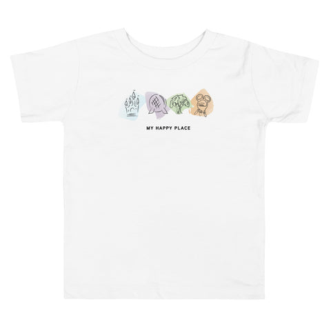 My Happy Place Toddler Short Sleeve Tee