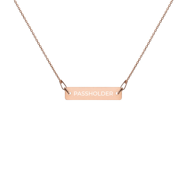 PASSHOLDER Bar Necklace