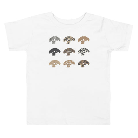 Animal Print Toddler Short Sleeve Tee