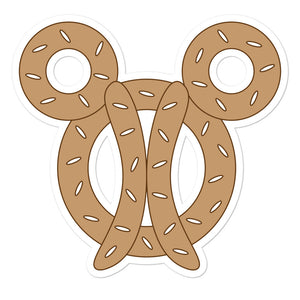 Mickey Pretzel Sticker