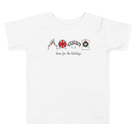 Home for the Holidays Toddler Short Sleeve Tee