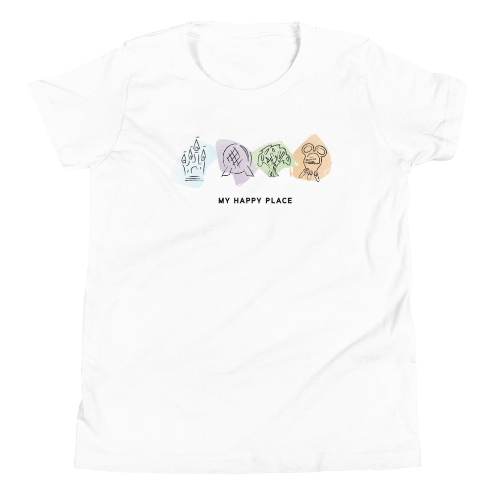 My Happy Place Youth Short Sleeve T-Shirt