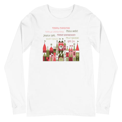 A Small World Christmas Unisex Long Sleeve Tee