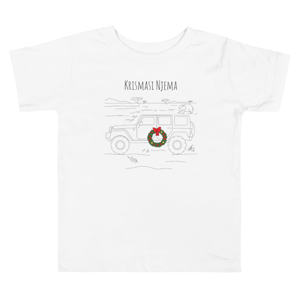 African Safari Christmas Toddler Short Sleeve Tee