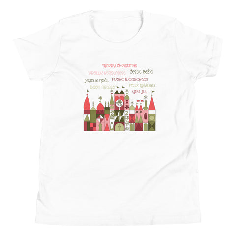Small World Christmas Youth Short Sleeve T-Shirt
