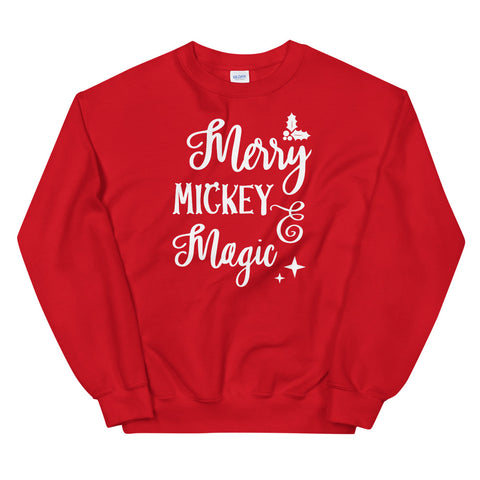 Merry Mickey Magic Unisex Sweatshirt