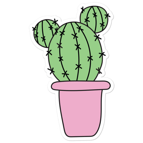 Mickey Cactus Sticker