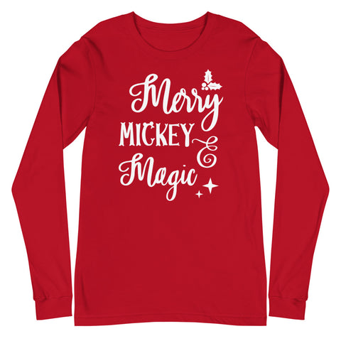 Mickey Merry Magic Unisex Long Sleeve Tee