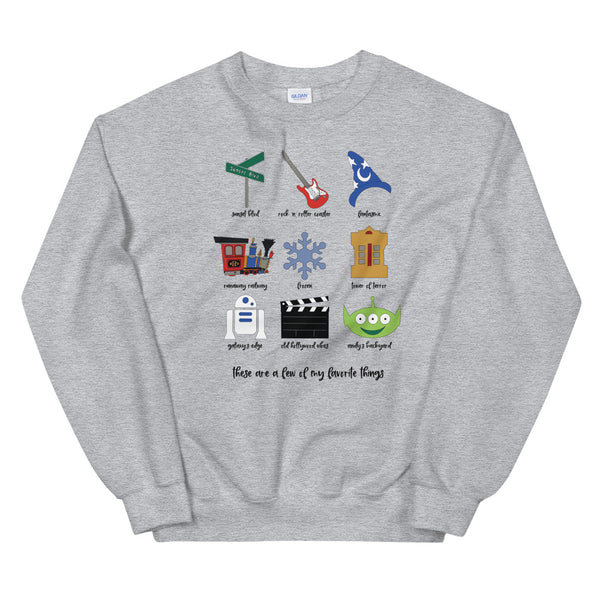 Hollywood Studios Favorites Unisex Sweatshirt