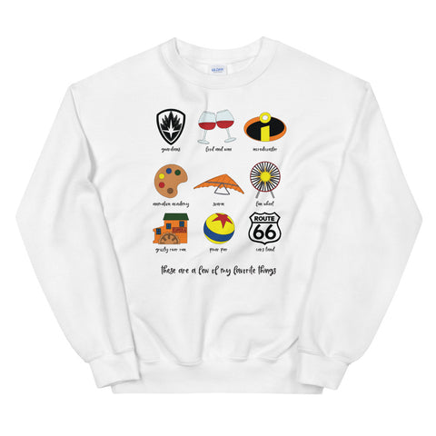 California Adventure Favorites Unisex Sweatshirt