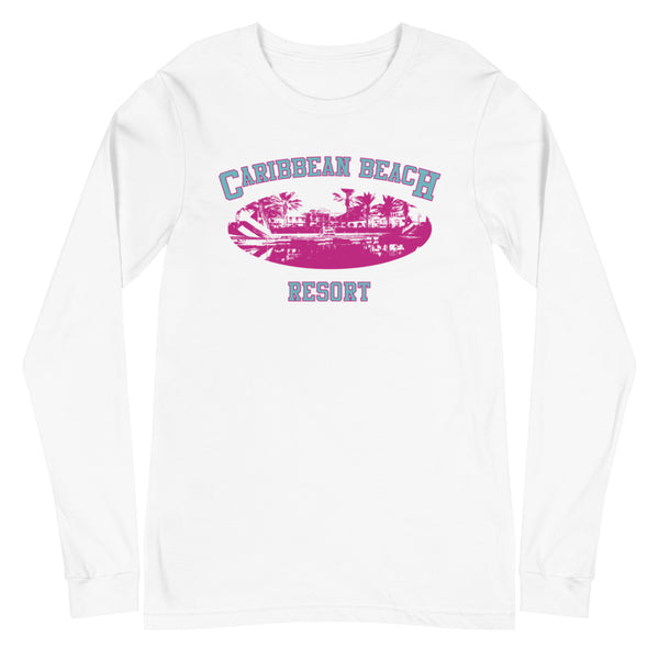Caribbean Beach Unisex Long Sleeve Tee