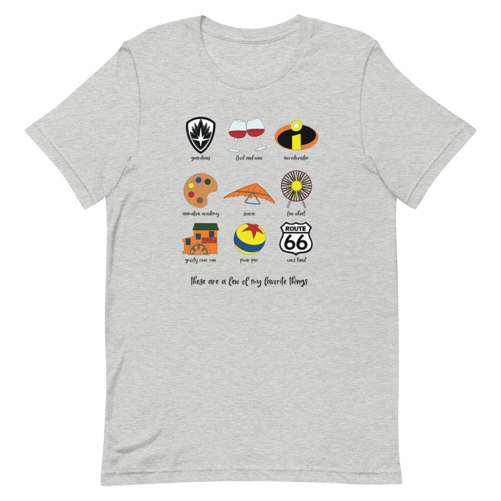 California Adventure Favorites Unisex T-Shirt