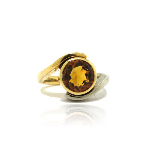 14k Yellow and White Gold Wrap Ring