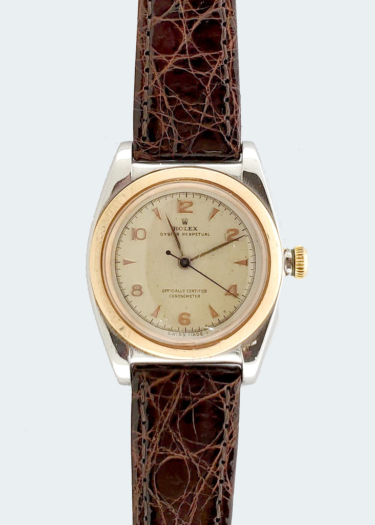 Rolex Rose Gold and Stainless Steel Bubbleback yr. 1948 Watch