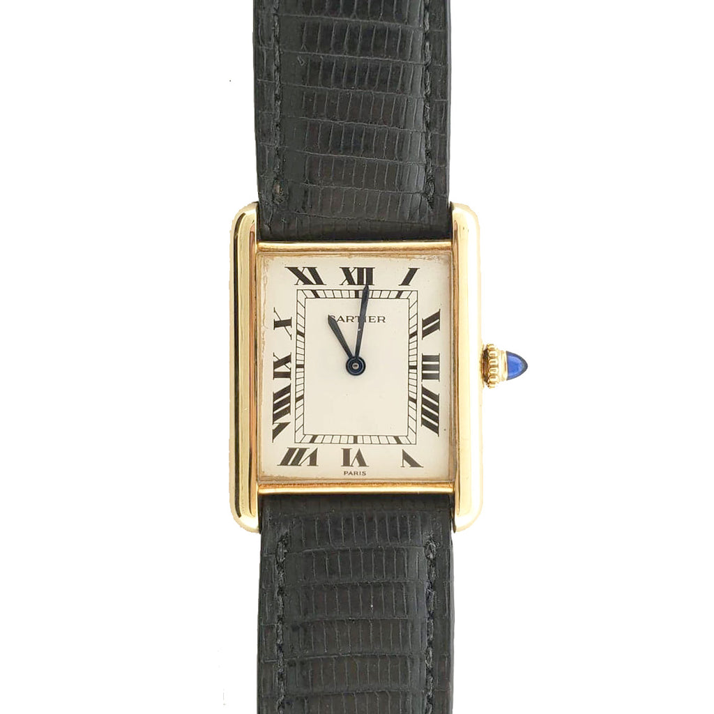 Cartier Mechanical 'Tank Paris' 18K Yr 1990