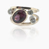 14K Y/G Rhodolite Garnet and Diamond Ring