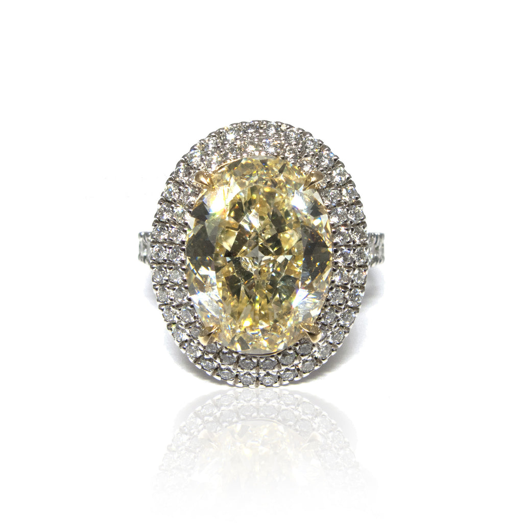 Fancy Light Canary Diamond Engagement Ring